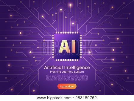 Artificial Intelligence Ai Chip On Computer Circuit Board