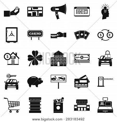 Hard Money Icons Set. Simple Set Of 25 Hard Money Icons For Web Isolated On White Background