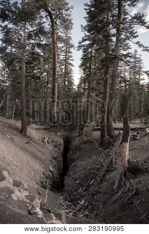 The Inyo Earthquake Fault In Mammoth Lakes California,