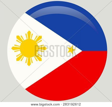 Original And Simple Republic Of The Philippines Flag Isolated In Official Colors And Proportion Corr
