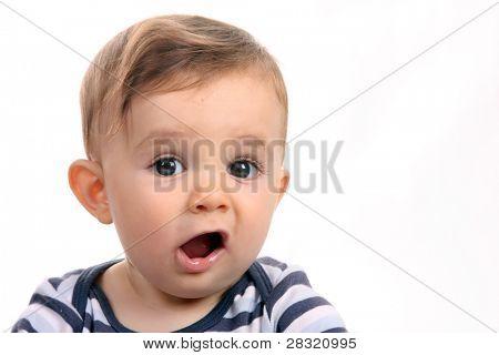 gelukkig baby boy, studio fotosessie