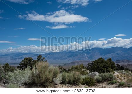 View Of The Panamint Mountains Fron The High Desert Area Of Lone Pine California