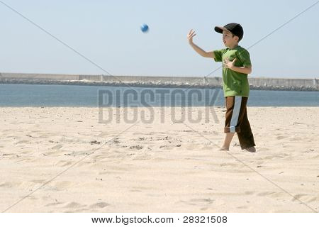 playing baseball on the beach, sports photo