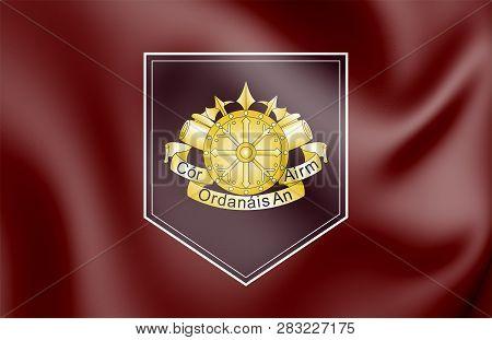 3D Flag of Defense Forces Ordnance Corps, Ireland. 3D Illustration. poster