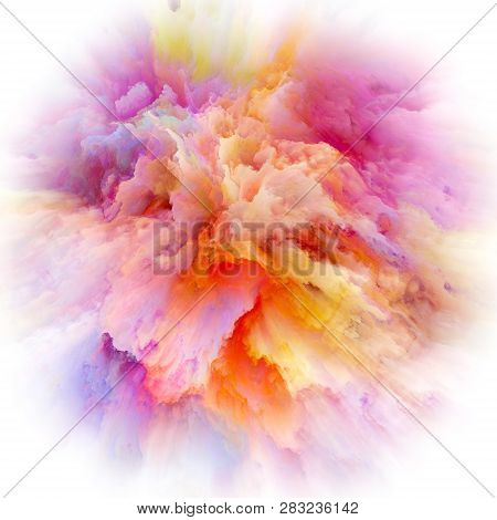 Digital Life Of Colorful Paint Splash Explosion