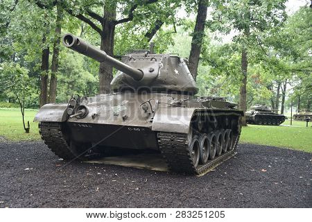 M47 Patton Tank On Display At The First Division Museum, Cantigny Park, Wheaton, Il September 1, 201