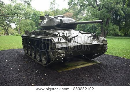 M24 Chaffee Tank On Display At The First Division Museum, Cantigny Park, Wheaton, Il September 1, 20