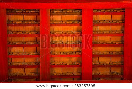 Structure Of Thai Temple Roof, Showing Tiles And Purlins At Wat Phra Kaeo - Chiang Rai, Thailand