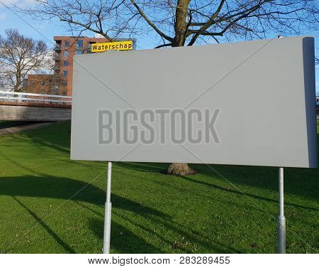 Empty Billboard For Election Posters For The Water Authority Or Waterschap In Dutch Elections On Mar