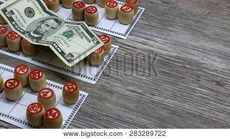 Lottery And Gambling. Ottery And Gambling.win Big Money. Win The Lottery. Lotto Game. Tabletop Old L