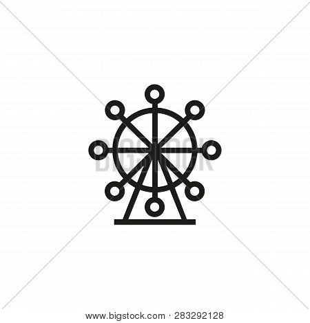 Ferris Wheel Line Icon. Carousel, Fair, Festival. Recreation Concept. Can Be Used For Topics Like Am