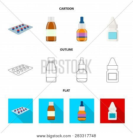 Isolated Object Of Retail And Healthcare Sign. Collection Of Retail And Wellness Stock Vector Illust