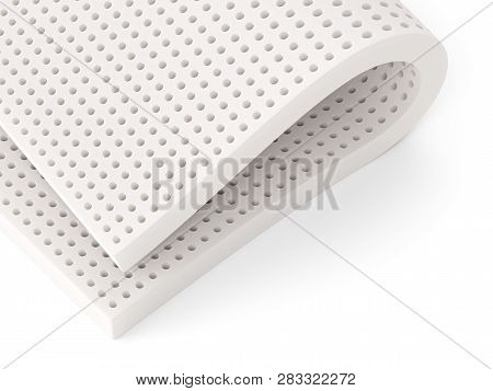 Natural Para Latex Rubber Material Sheet Isolated On White Background. 3d Illustration