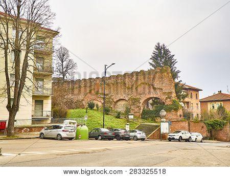 Asti City Walls. Piedmont, Italy.