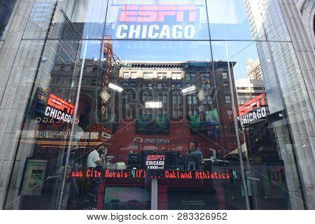 Espn Chicago Radio Studio Along State Street, Chicago, Il September 11, 2018