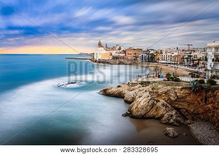Sitges Is Known For Its Beaches, Nightspots, And Historical Sites. The Beach Seen Here Is Playa San