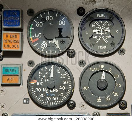Aircraft  gauges poster