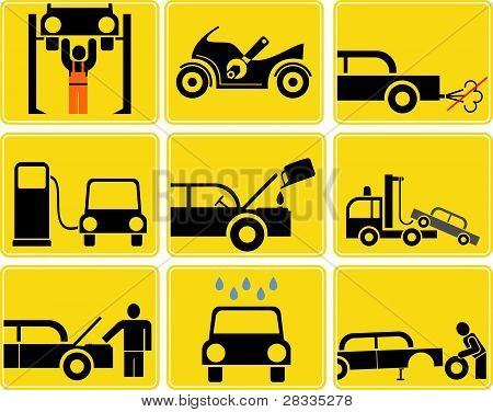 Auto Service - Vector Icons