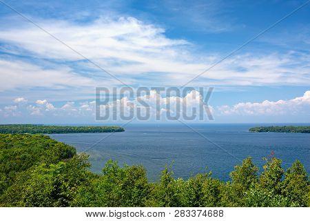View From Scenic Overlook In Penninsula State Park In Door County, Wisconsin