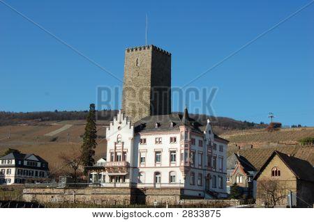 Castle And Museum In Rudescheim, Germany