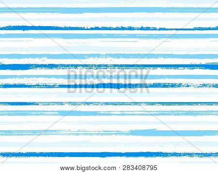 Grunge Stripes Seamless Vector Background Pattern. Ethnic Abstract Design. Dry Paintbrush Stripes Gr