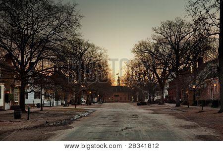 Duke Of Gloucester Street At Dawn