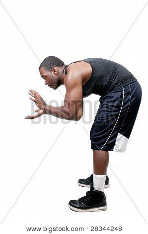 Black Man Playing Football