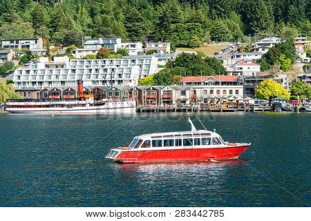 Lakefront Of Queenstown City, New Zealand