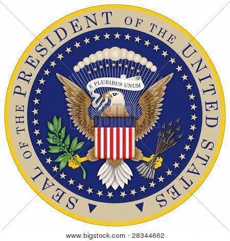 Präsidentschaftswahlen Siegel