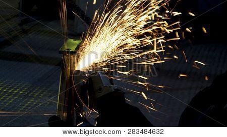 Production Of Metal Structures. Enterprise Processing Metal. Processing Of Metal Products And Metal