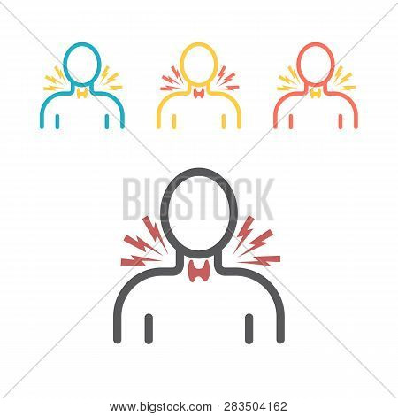 Thyroid Gland Icon. Vector Signs For Web Graphics.