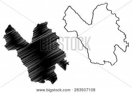 Lao Cai Province (socialist Republic Of Vietnam, Subdivisions Of Vietnam) Map Vector Illustration, S