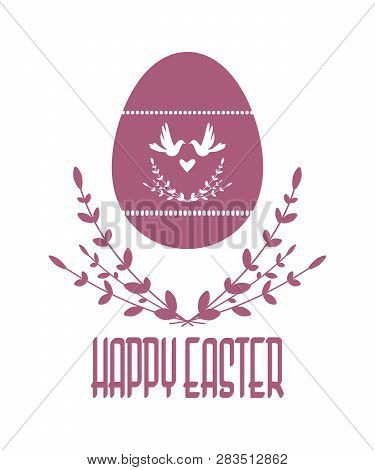 Easter Vector Composition. Vector Image. Silhouette Isolated From The Background. Eps 10