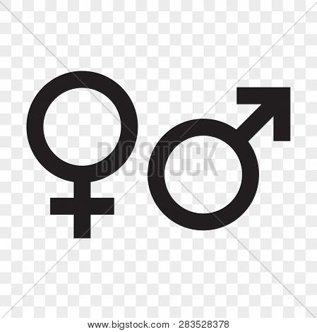 Female And Male Gender Arrow Sign. Vector Man And Woman Sex Icons