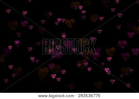 Bokeh hearts, hearts overlay, photo overlay, blurred hearts background