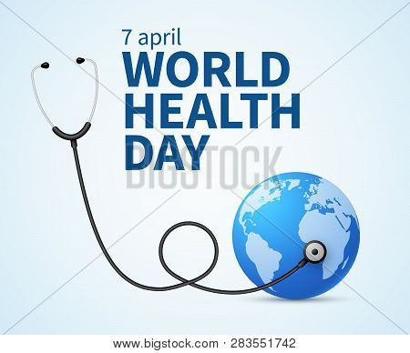 Health Day. Wellness, Health Protection And Global Medicine Healthcare Vector Poster. Illustration O