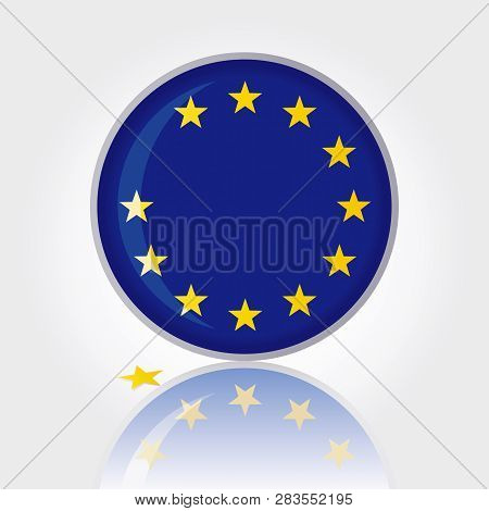 Symbol Of Brexit Vector Graphic. Stars With Shadow. Brexit. Great Britain Separating From The Eu. In
