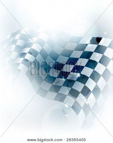 Blue Checkered Background, 10eps