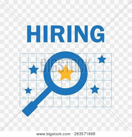 Hiring Concept Vector. Choice Of The Person From The Crowd For Hiring Vector