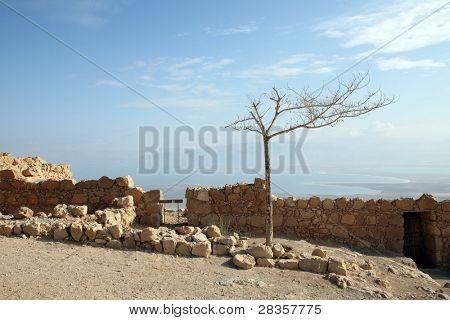 Masada is a isolated rock plateau