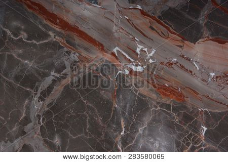Beautiful Marble With Pink And Red Veins, Called Caravaggio