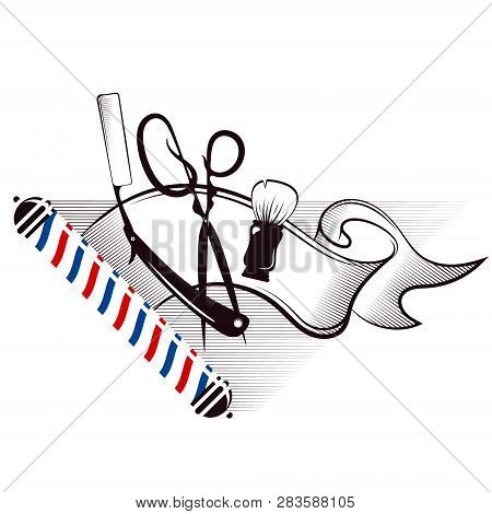 Barbershop And Hair Salon Silhouette Hairdresser, Haircut