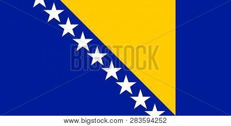 Bosnia And Herzegovina Vector Flag. Illustration. Sarajevo.