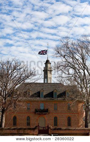 British Flag Flys Over Capitol Building