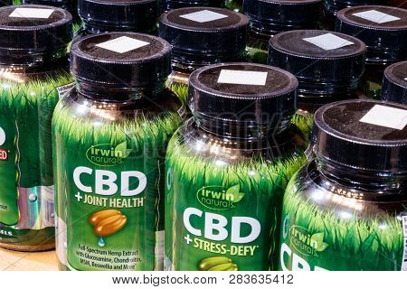 Indianapolis - Circa February 2019: Irwin Naturals Cbd Products. The Popularity Of Cbd Oil As A Medi