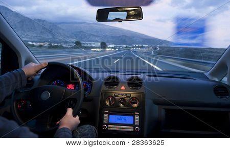 Innenansicht Auto an