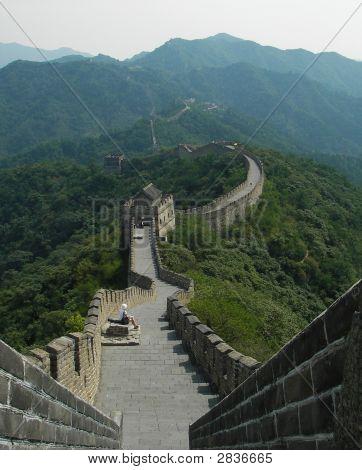 Mutianyu Great Wall W Girl