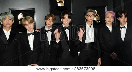LOS ANGELES - FEB 10:  BTS at the 61st Grammy Awards at the Staples Center on February 10, 2019 in Los Angeles, CA