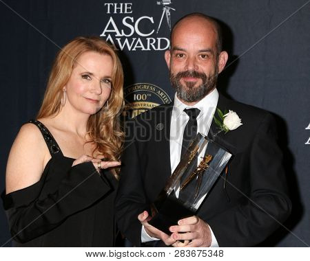 LOS ANGELES - FEB 9:  Lea Thompson, Adriano Goldman at the 33rd Annual American Society Of Cinematographers Awards at the Dolby Ballroom on February 9, 2019 in Los Angeles, CA