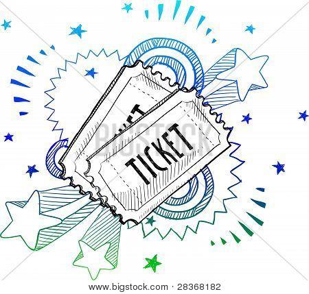 Concert ticket sketch